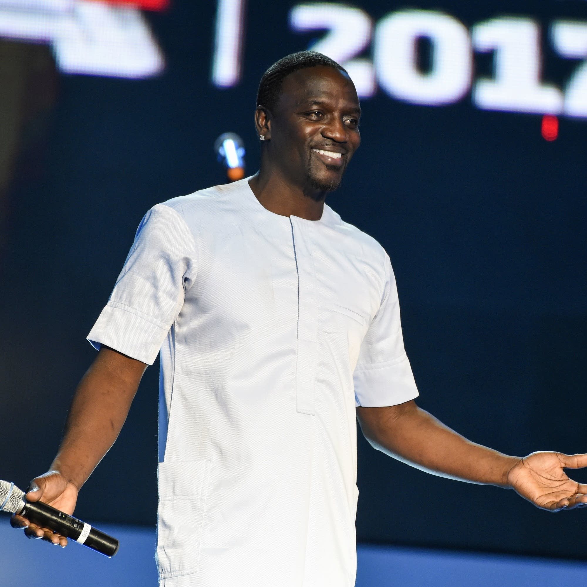Akon performs in Lagos, Nigeria in 2017.