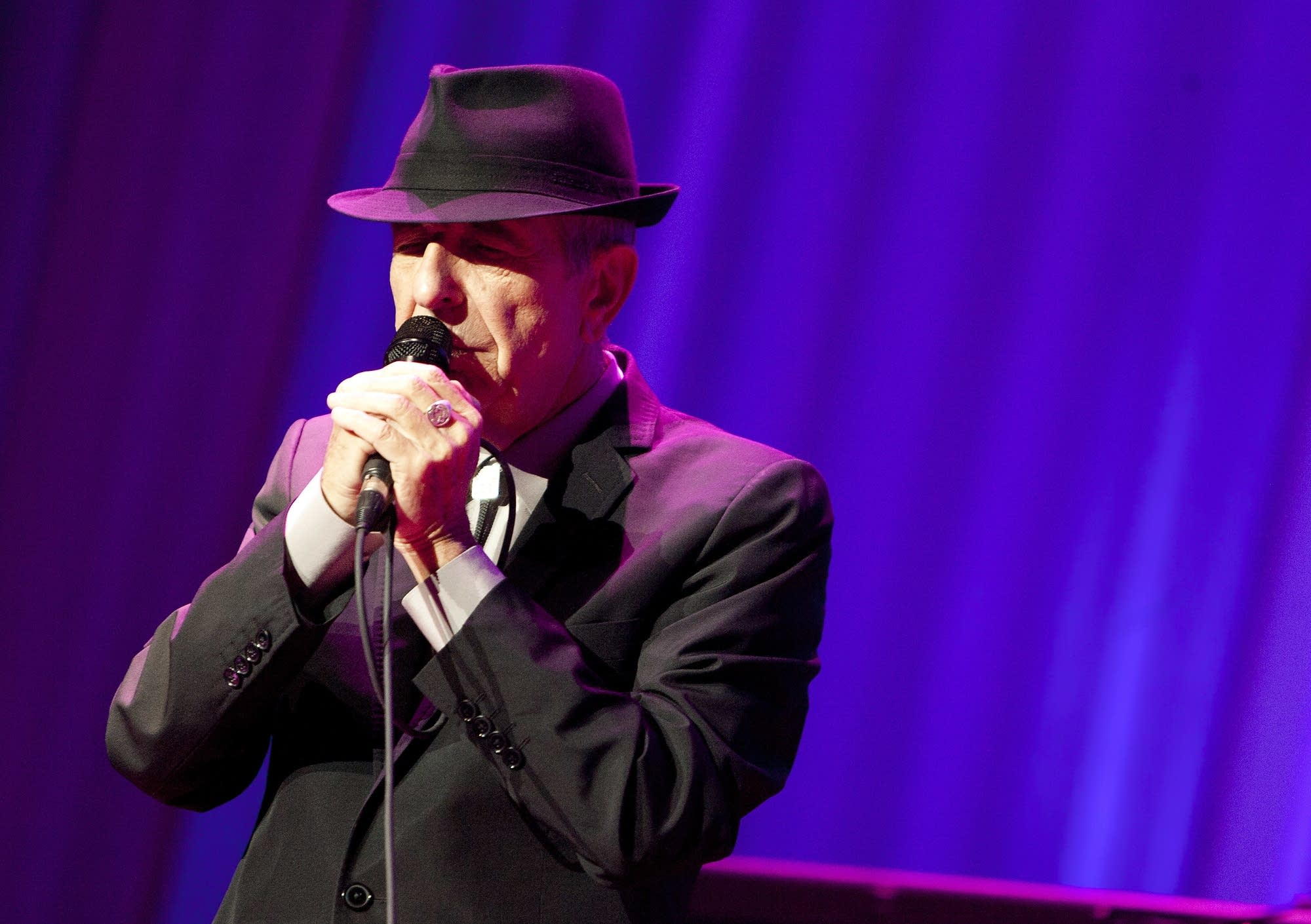 Leonard Cohen in concert in New York in 2012.