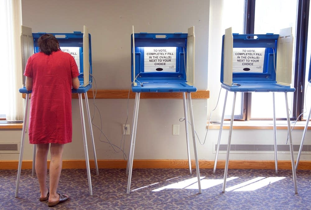 Judith Ritchart votes on August 12, 2014