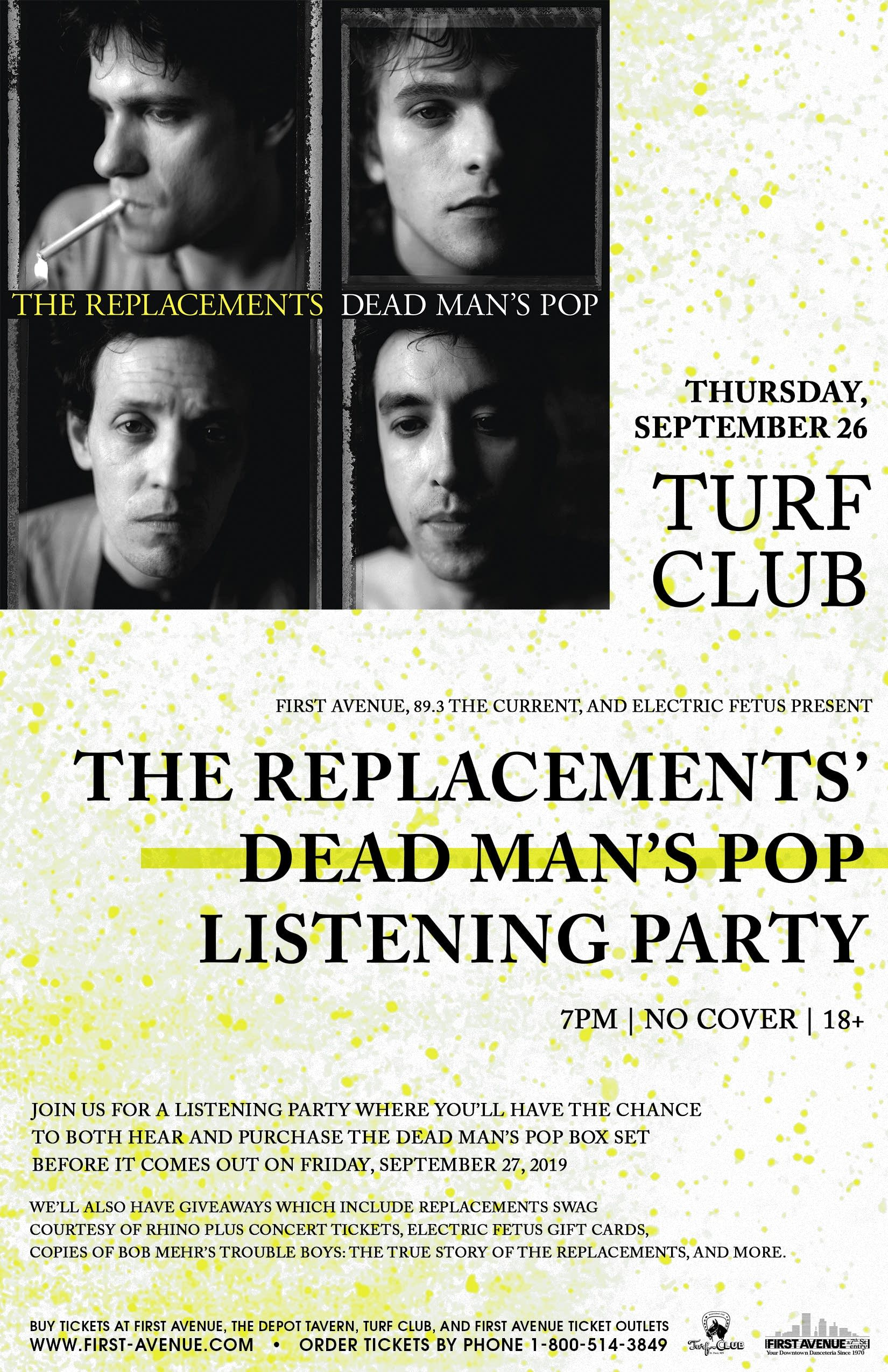 The Replacements' Dead Man's Pop Listening Party PosterV2