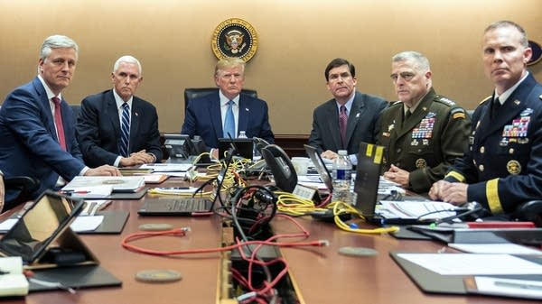 President Trump is joined by top advisers
