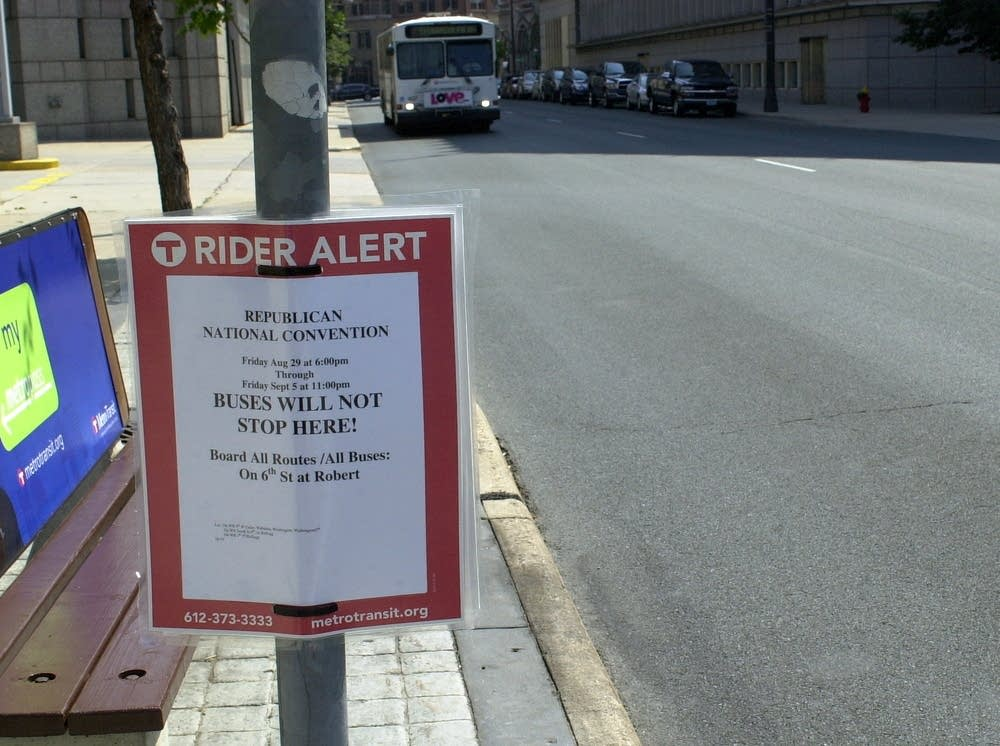Reroute notice for St. Paul buses