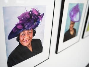 Photographs of women in church hats by Walter Griffin.