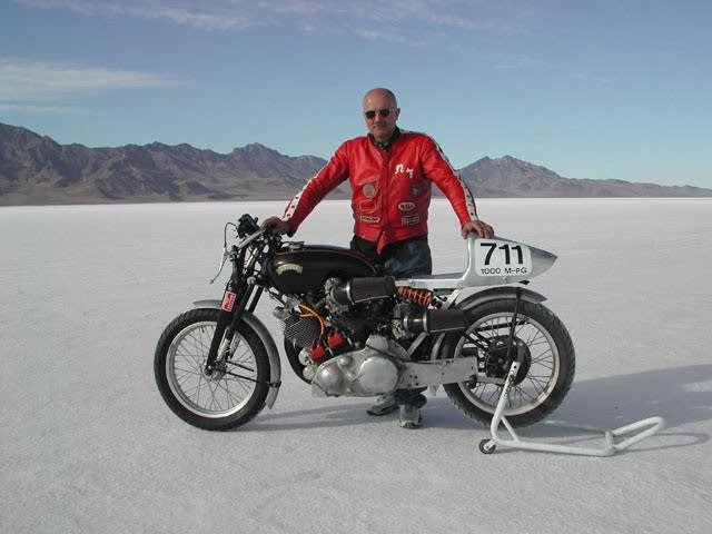 Steve Hamel with his bike