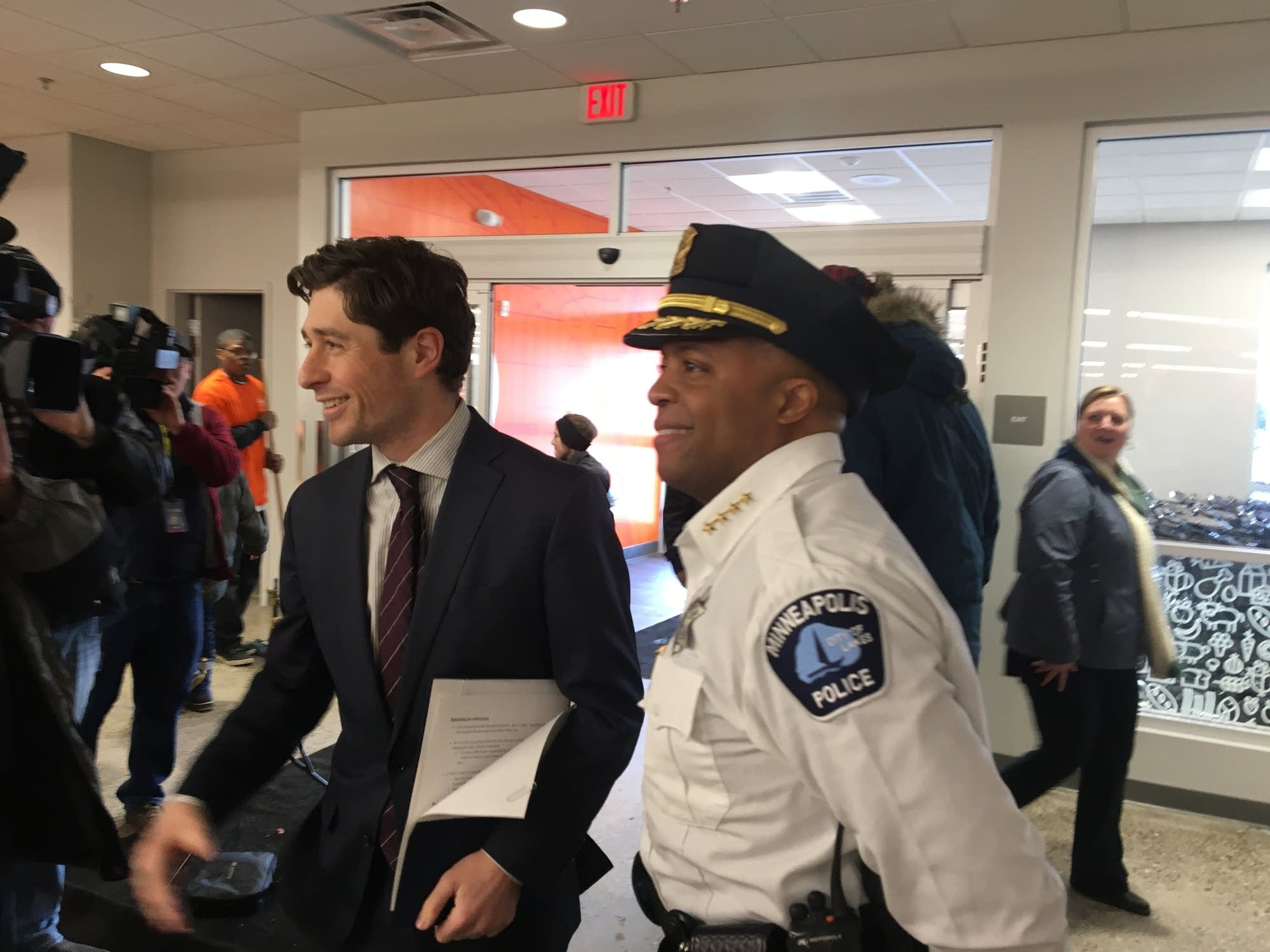 Minneapolis Mayor Jacob Frey, Police Chief Medaria Arradondo