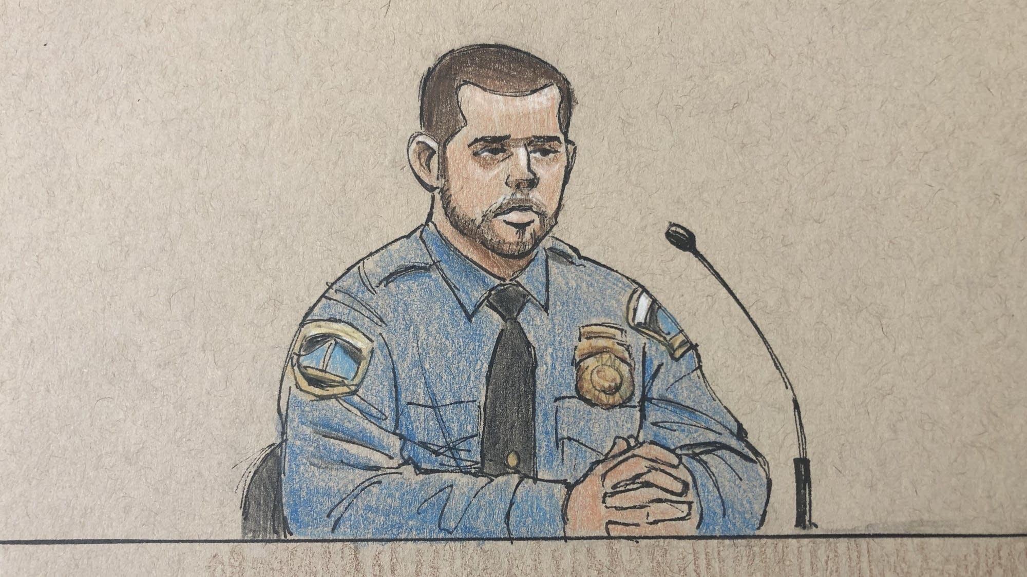 Minneapolis police officer Matthew Harrity in Noor's trial Thursday.