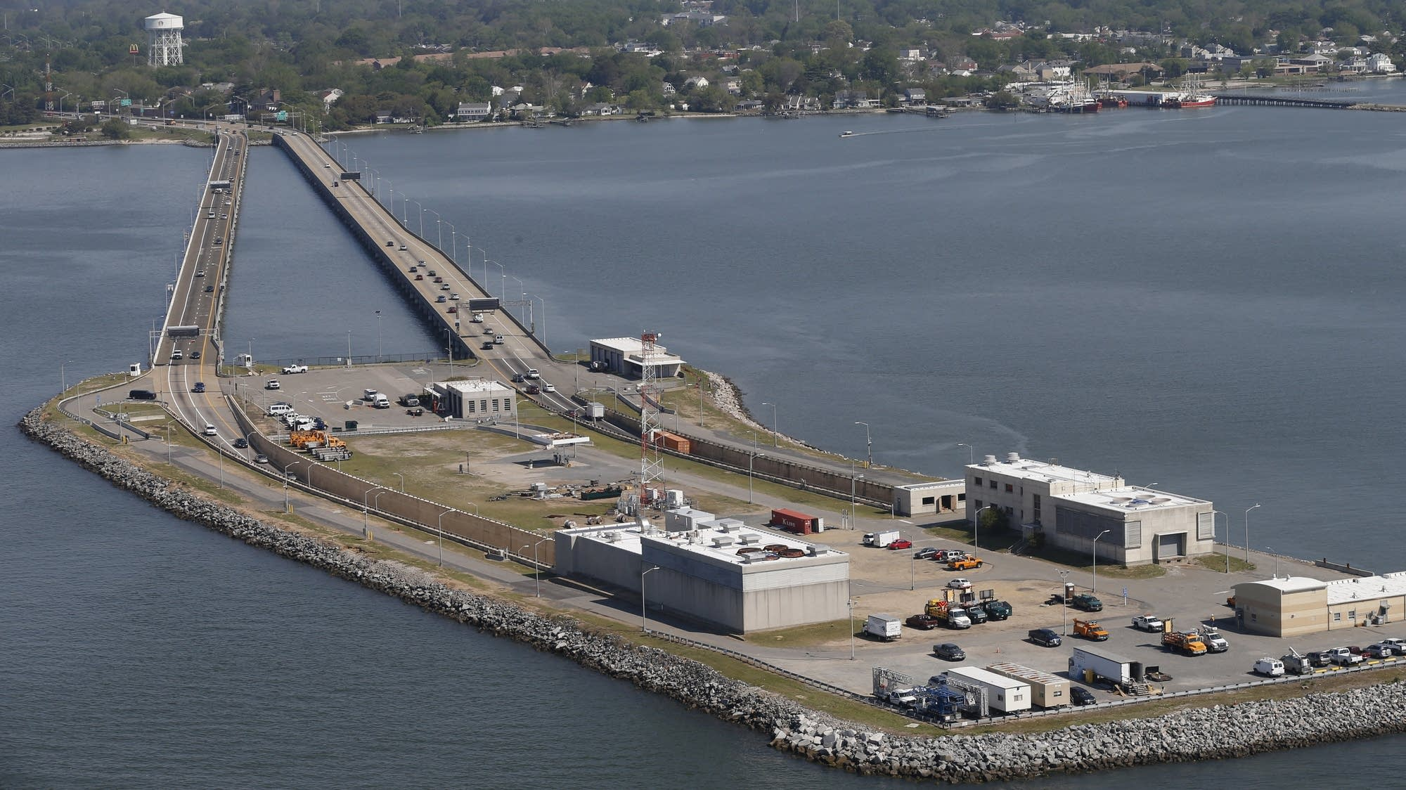 The Hampton Roads Bridge Tunnel in Hampton, Va.