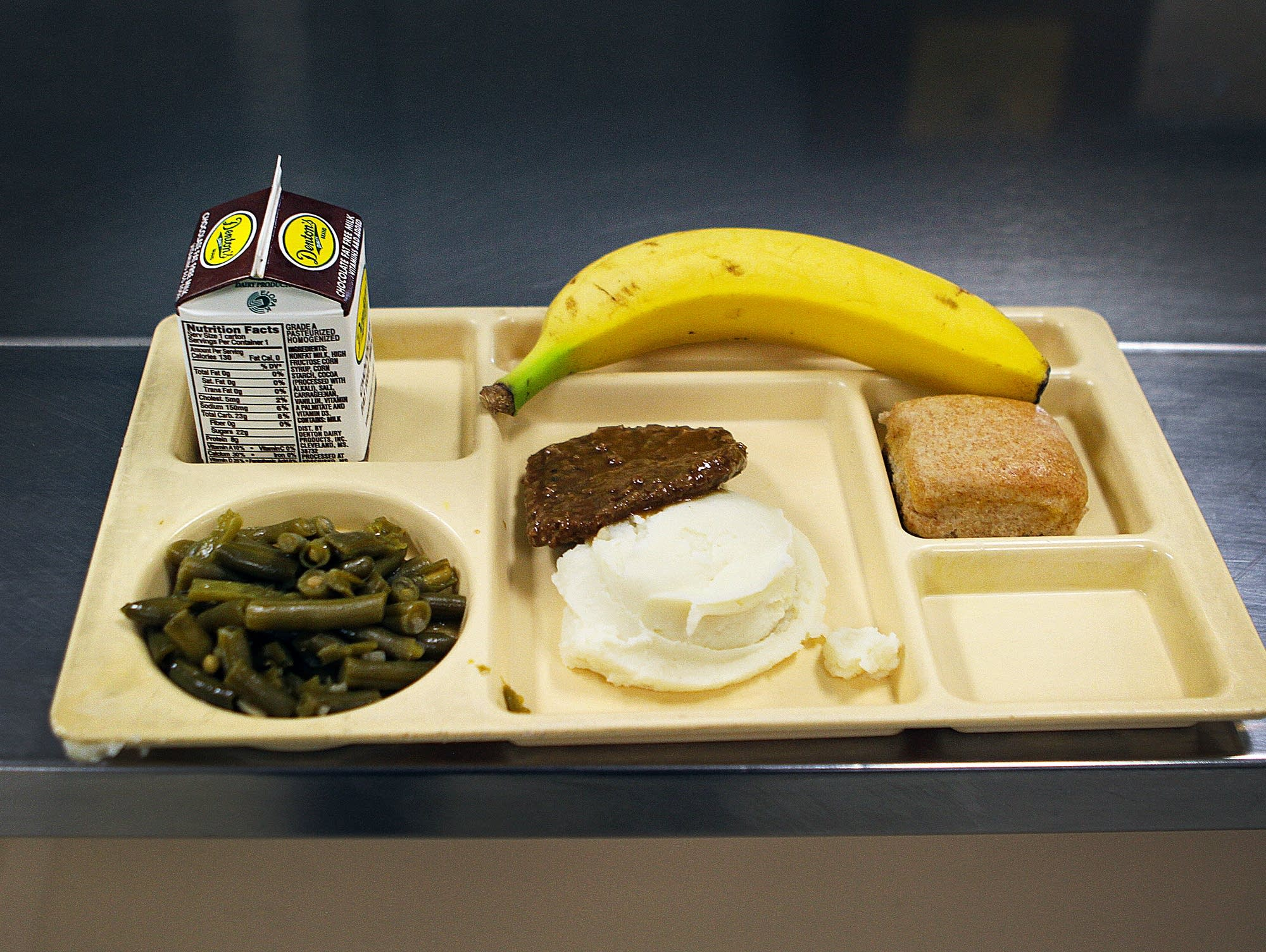The day's lunch at Bell Academy