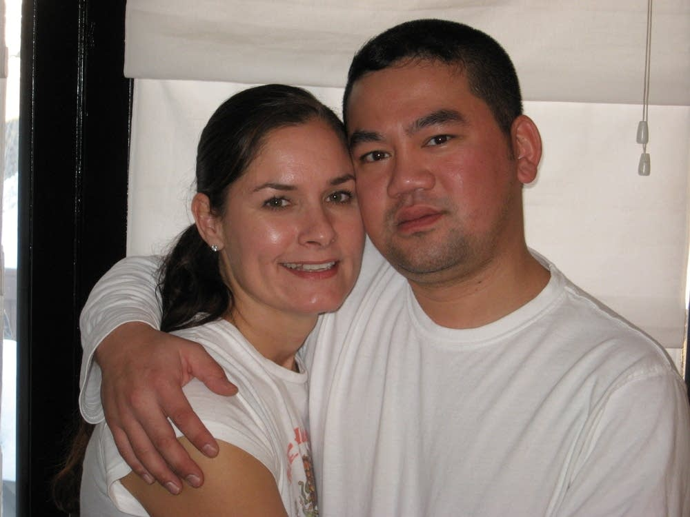 Duy Ngo and his wife