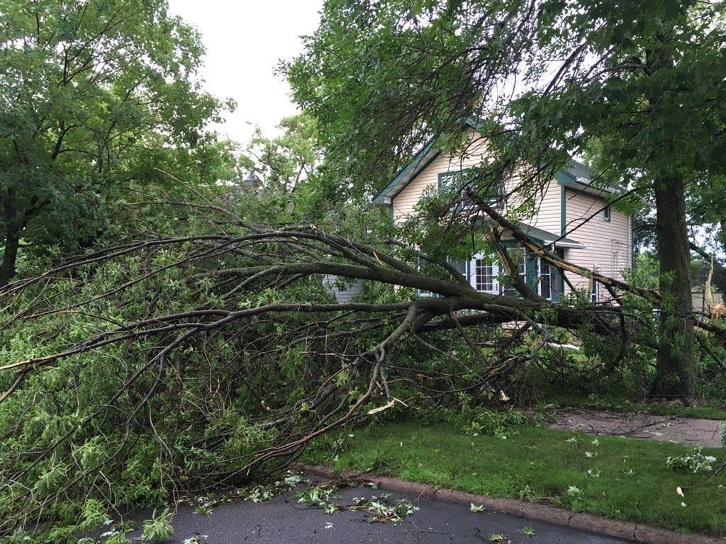 Storm damage in Duluth