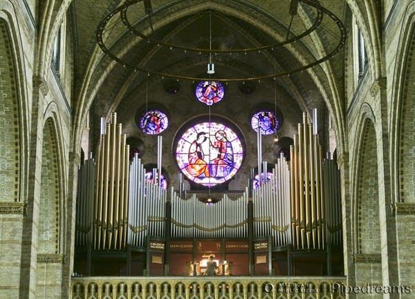 1923 Adema organ at the Basiliek Sint Bavo [Basilica of Saint Bavo],...