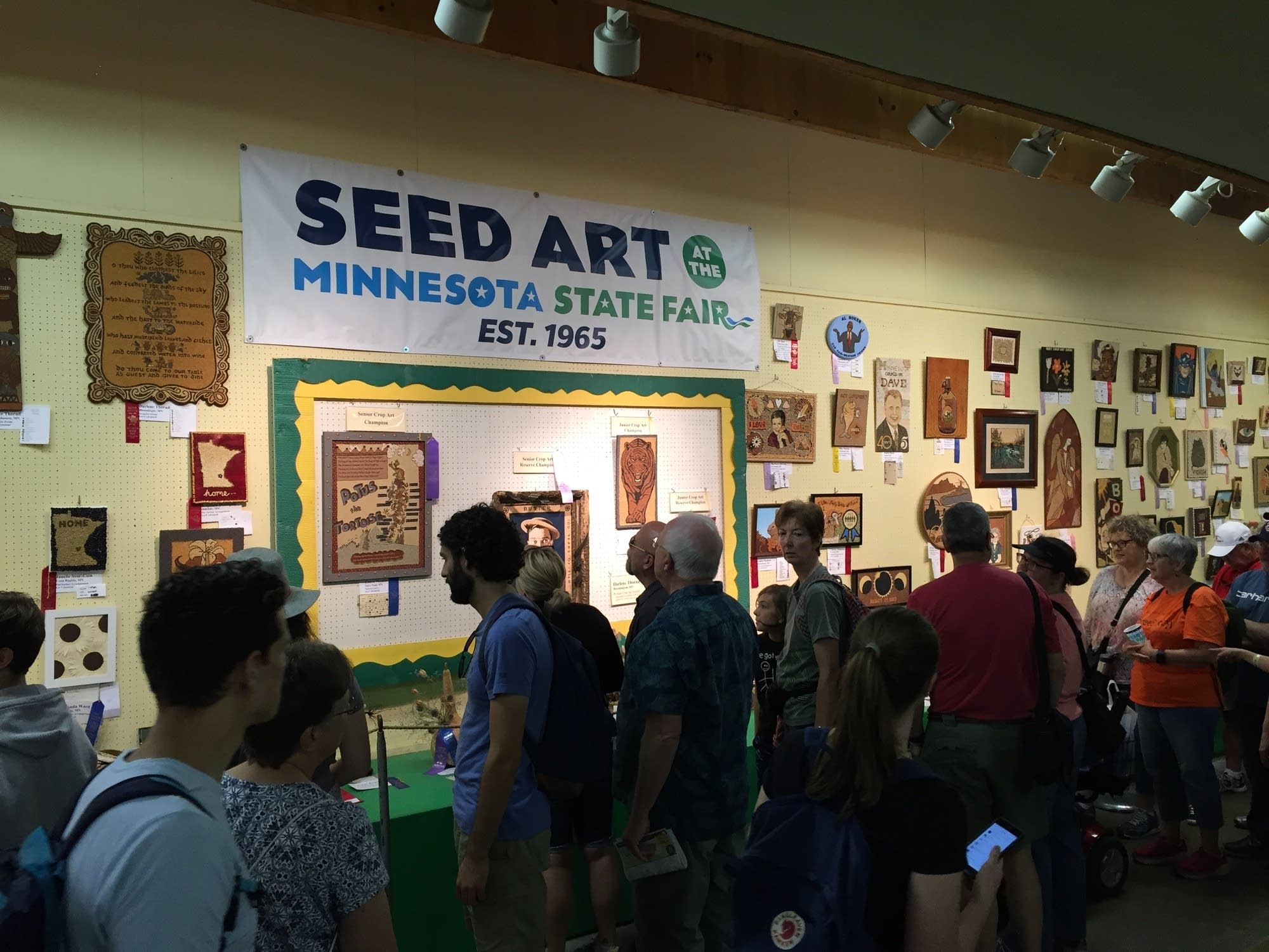 The 2017 Seed Art exhibit at the Minnesota State Fair