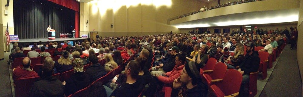 Mankato West High School auditorium is packed.