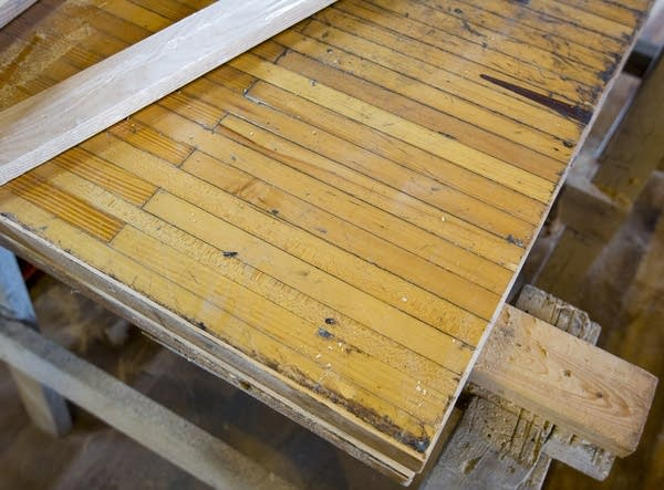 Bowling alley floors are being crafted into tables