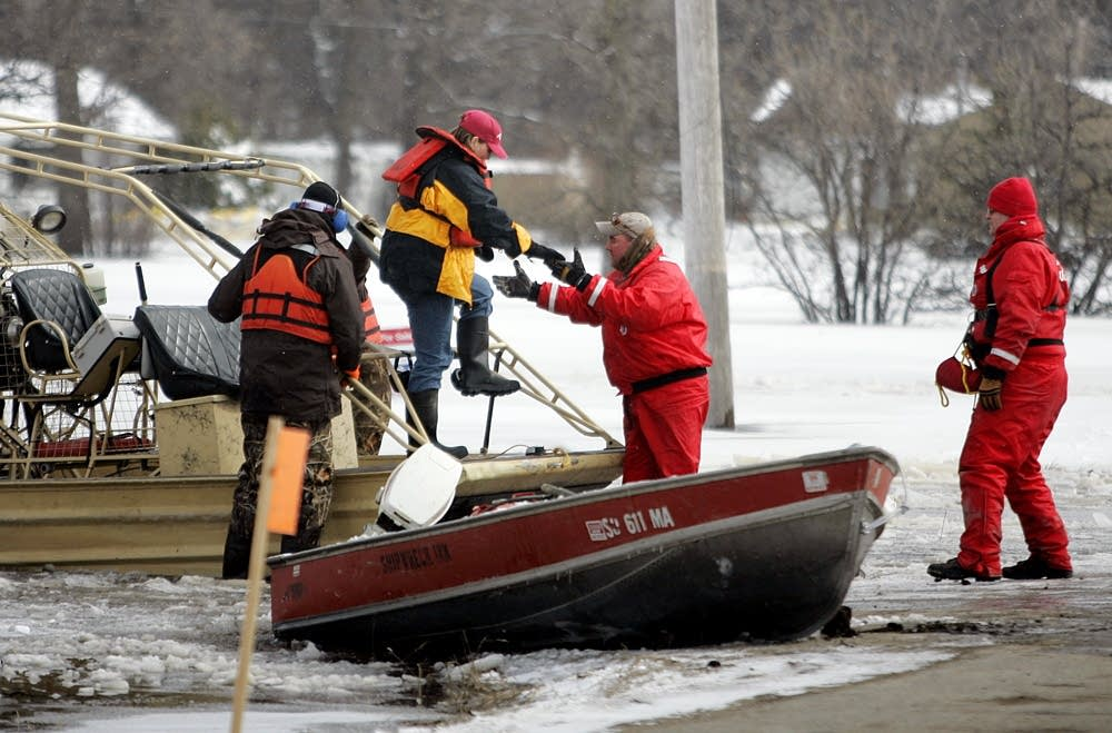 Residents in Oakport were evacuated by boat