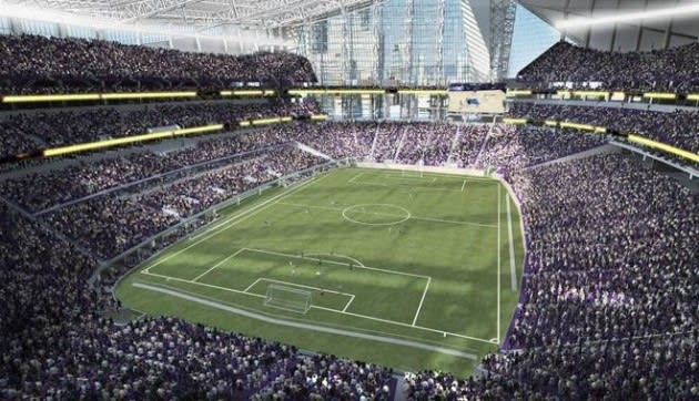 Soccer at planned Vikings stadium