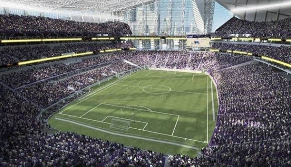 Soccer at planned Vikings stadium