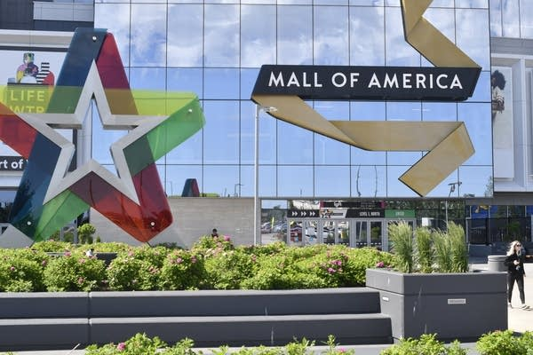 A visitor leaves the Mall of America.