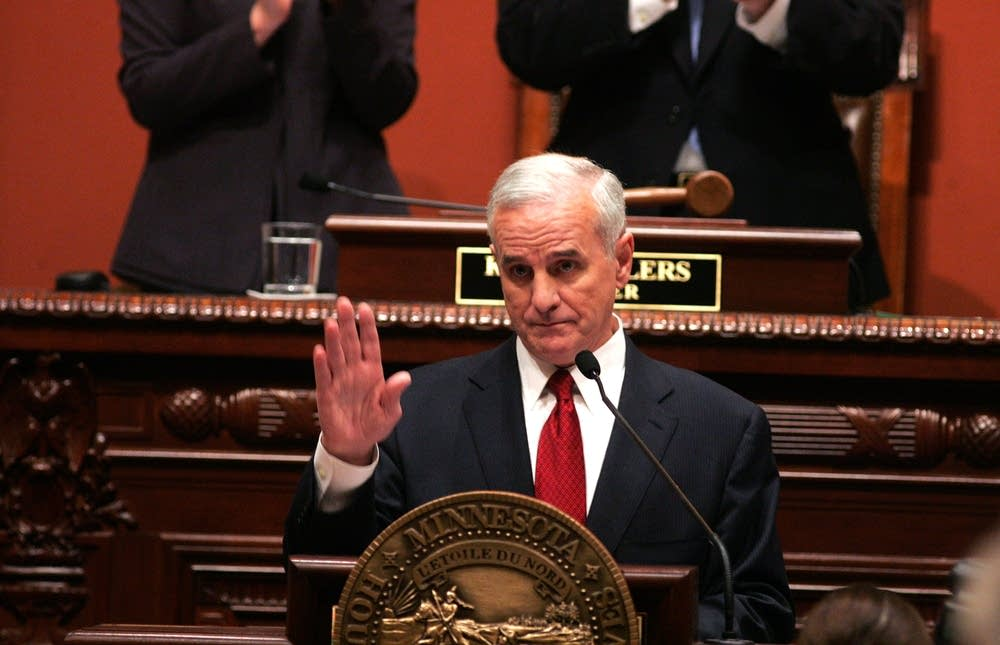Gov. Mark Dayton delivers his speech