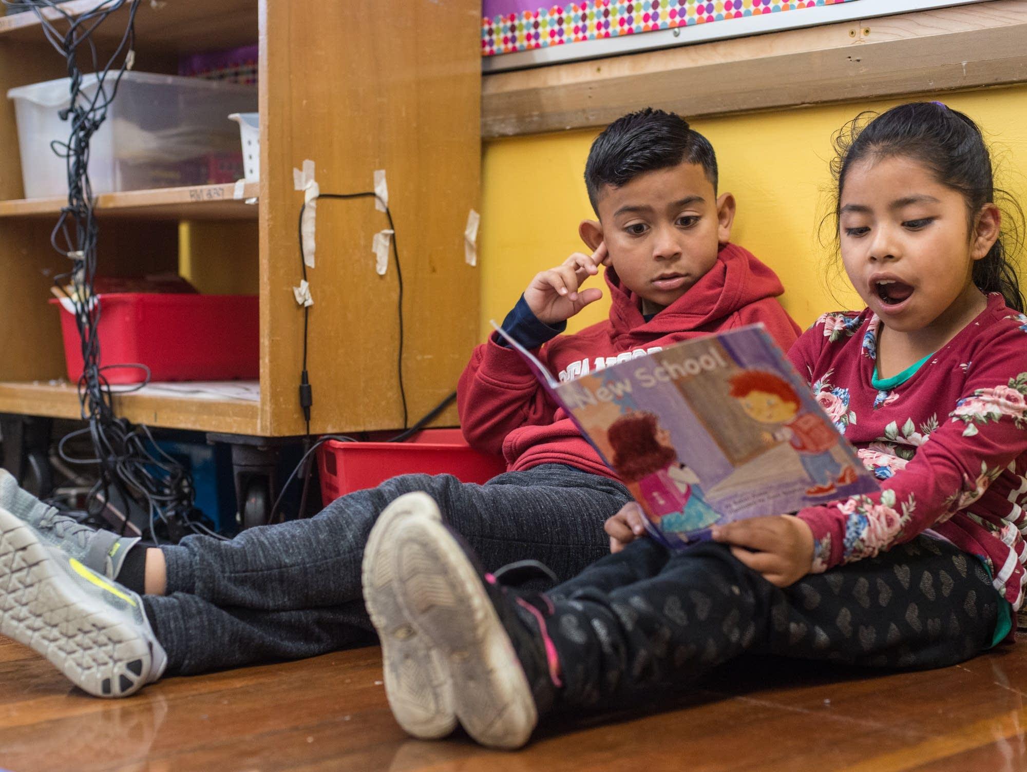 Steven and Belinda, buddy reading