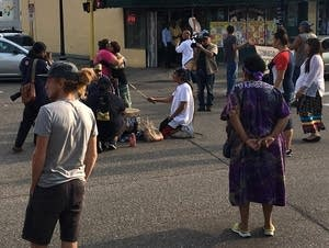 Activists with Native Lives Matter occupy an intersection