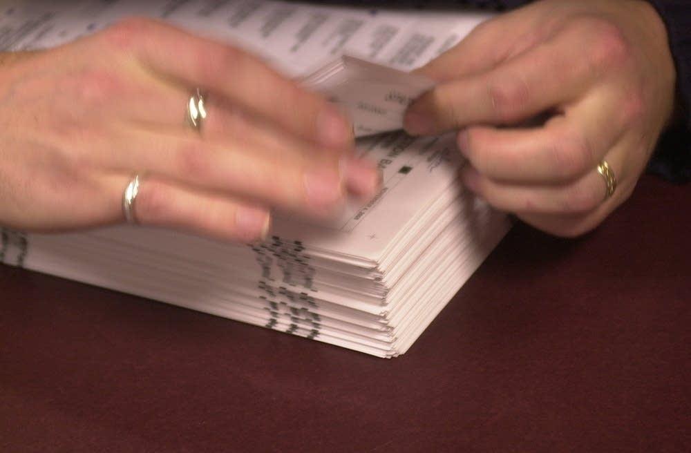 Hand counting ballots