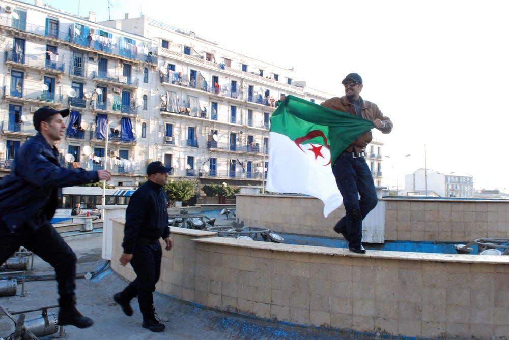 Algerian protester