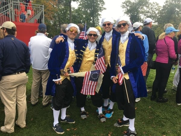 Mark Allen and friends at Ryder Cup