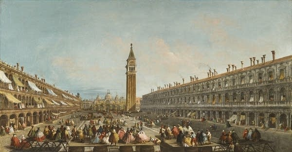 """""""Doge Pietro Grimani Carried into Piazza San Marco after his Election"""""""