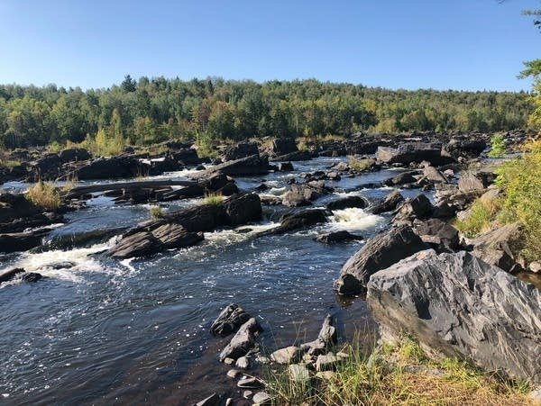 The St. Louis River at Jay Cooke State Park