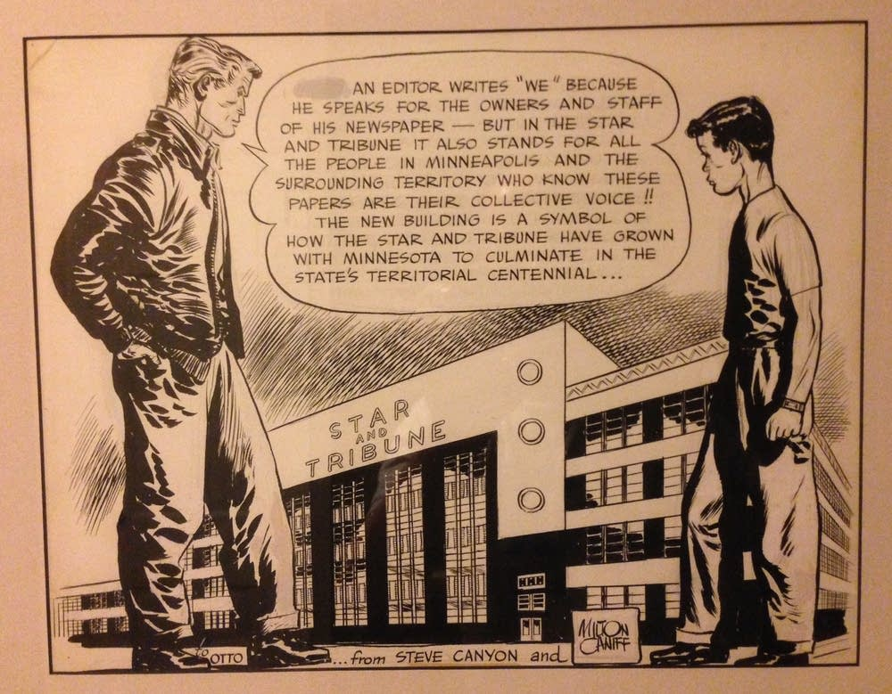 Milton Caniff's Star Tribune drawing