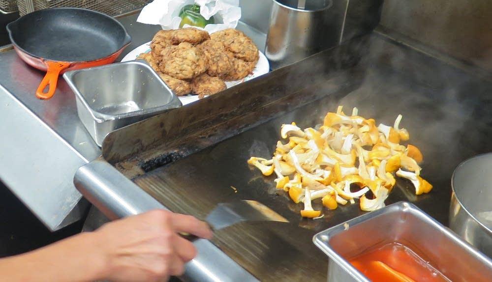 Cooking chanterelles