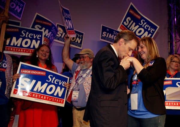 Steve Simon with his wife Leia