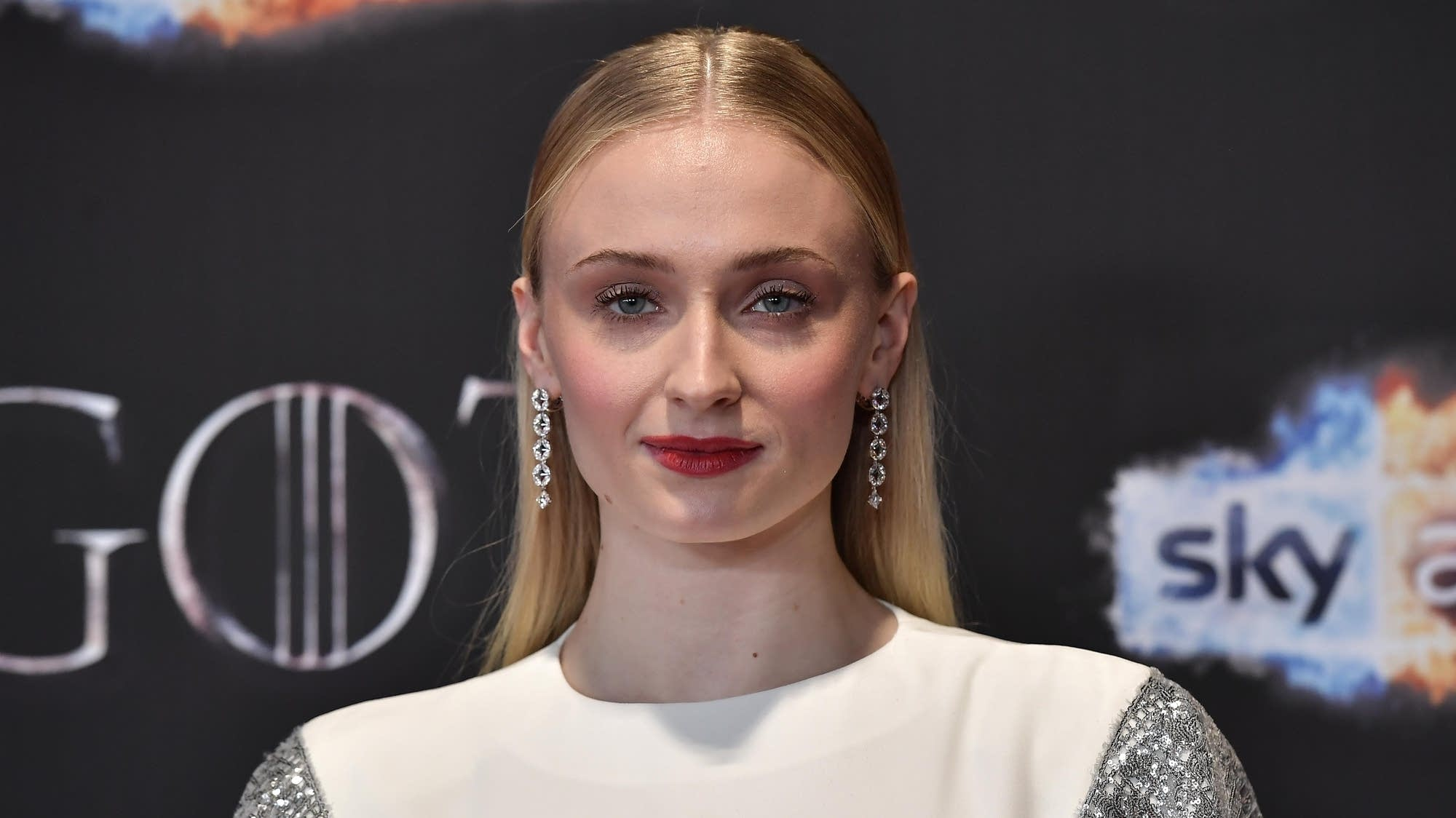 "Sophie Turner attends the ""Game of Thrones"" Season 8 screening."