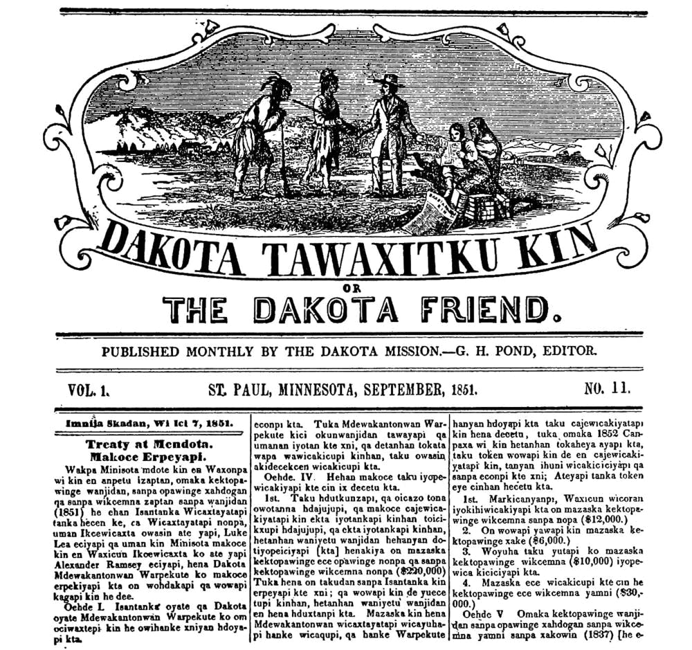 Dakota Friend Newspaper