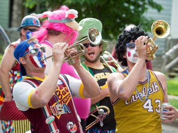 Members of the Eveleth Clown Band