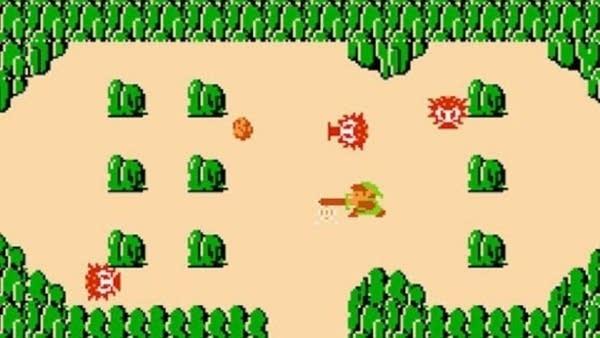 Screen cap from old NES Legend of Zelda video game