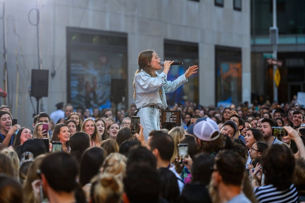 Maggie Rogers performs on the 'TODAY' show on NBC