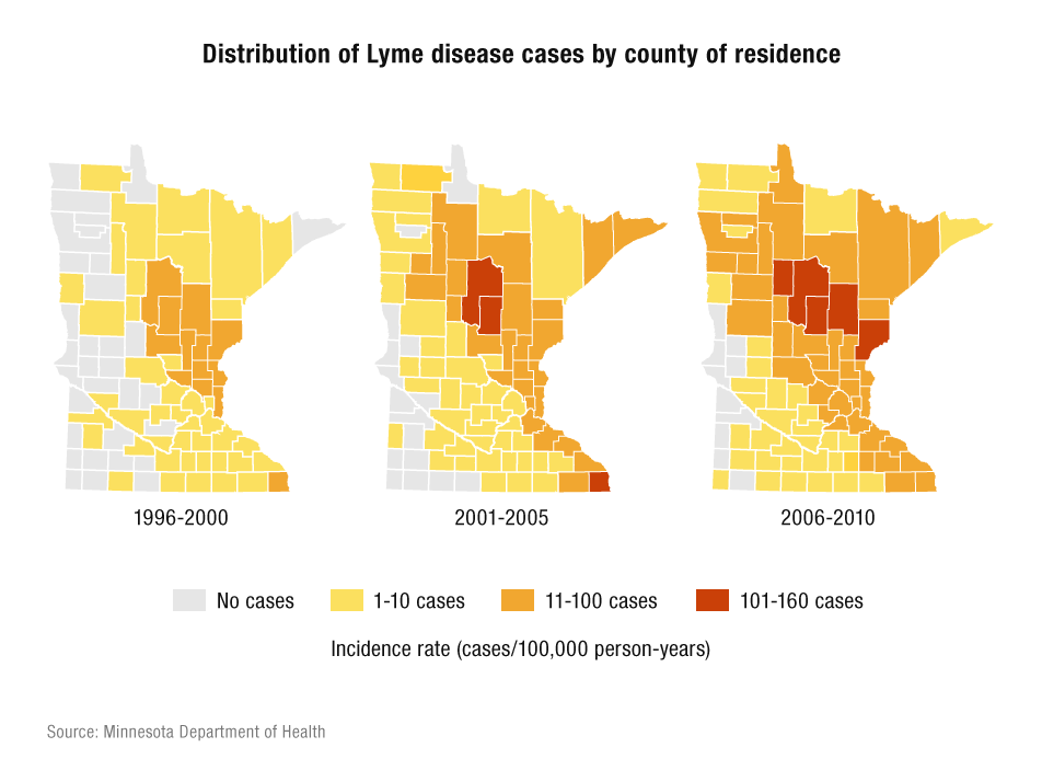 Lyme disease by county