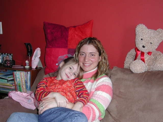 Nicky Inskeep and her daughter, Kirsten at home