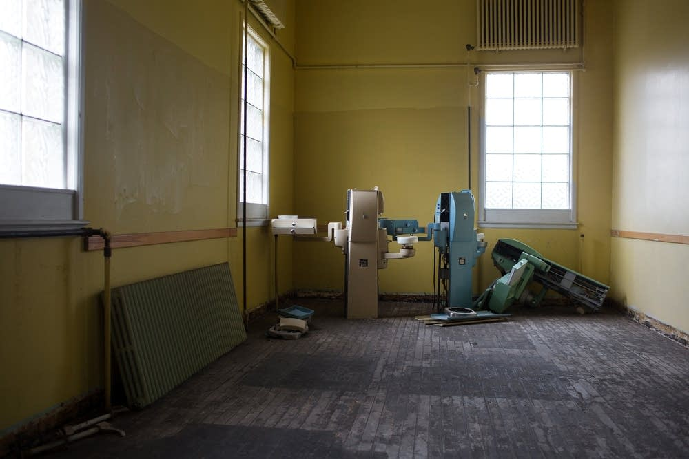 Abandoned dental equipment in old cavalry barracks