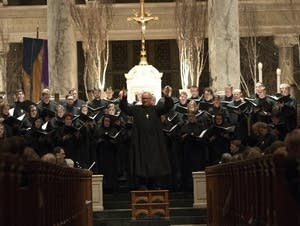 The National Lutheran Choir sings at the Basilica of St. Mary.