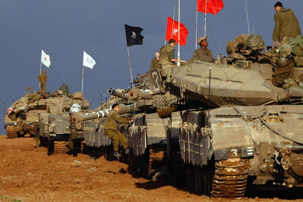 Israeli troops in Gaza