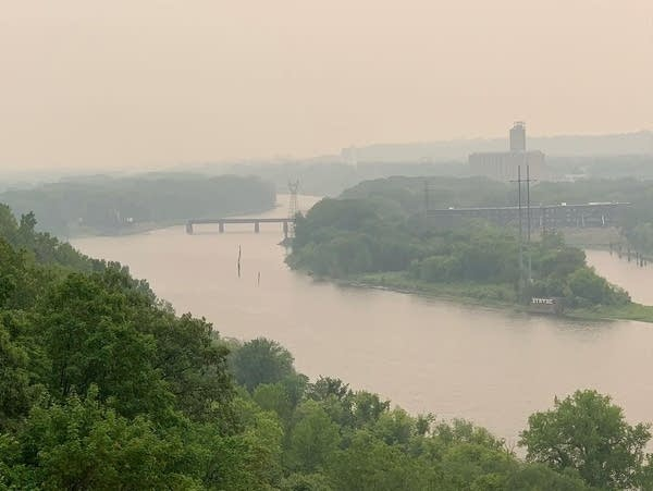 Smoke from wildfires causes thick haze in the sky