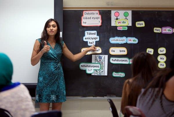 Teaching Dakota language