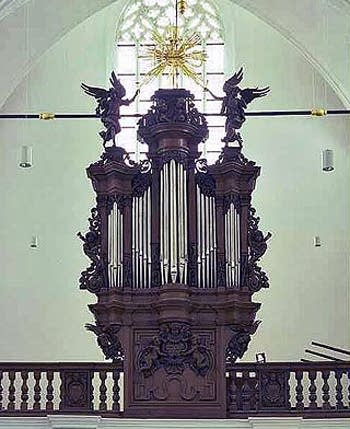 1696 Goltfuss organ at the Church of Saint John the Evangelist, Leuven,...