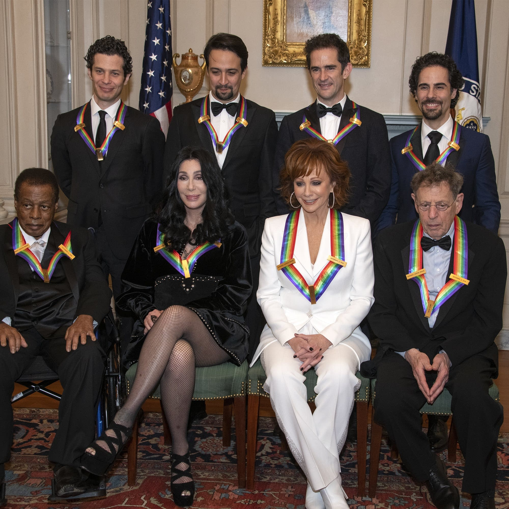 2018 Kennedy Center honorees pose on Dec. 1, 2018.