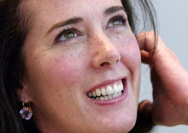 Kate Spade poses during an interview.