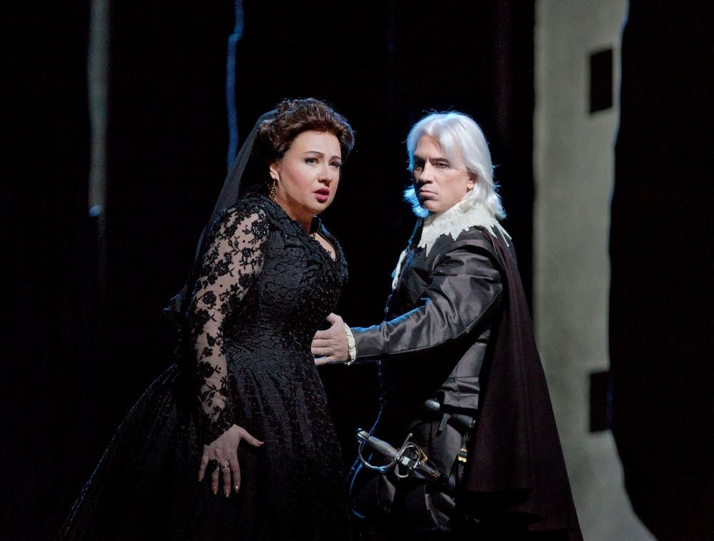 Smirnova as Eboli and Hvorostovsky as Rodrigo