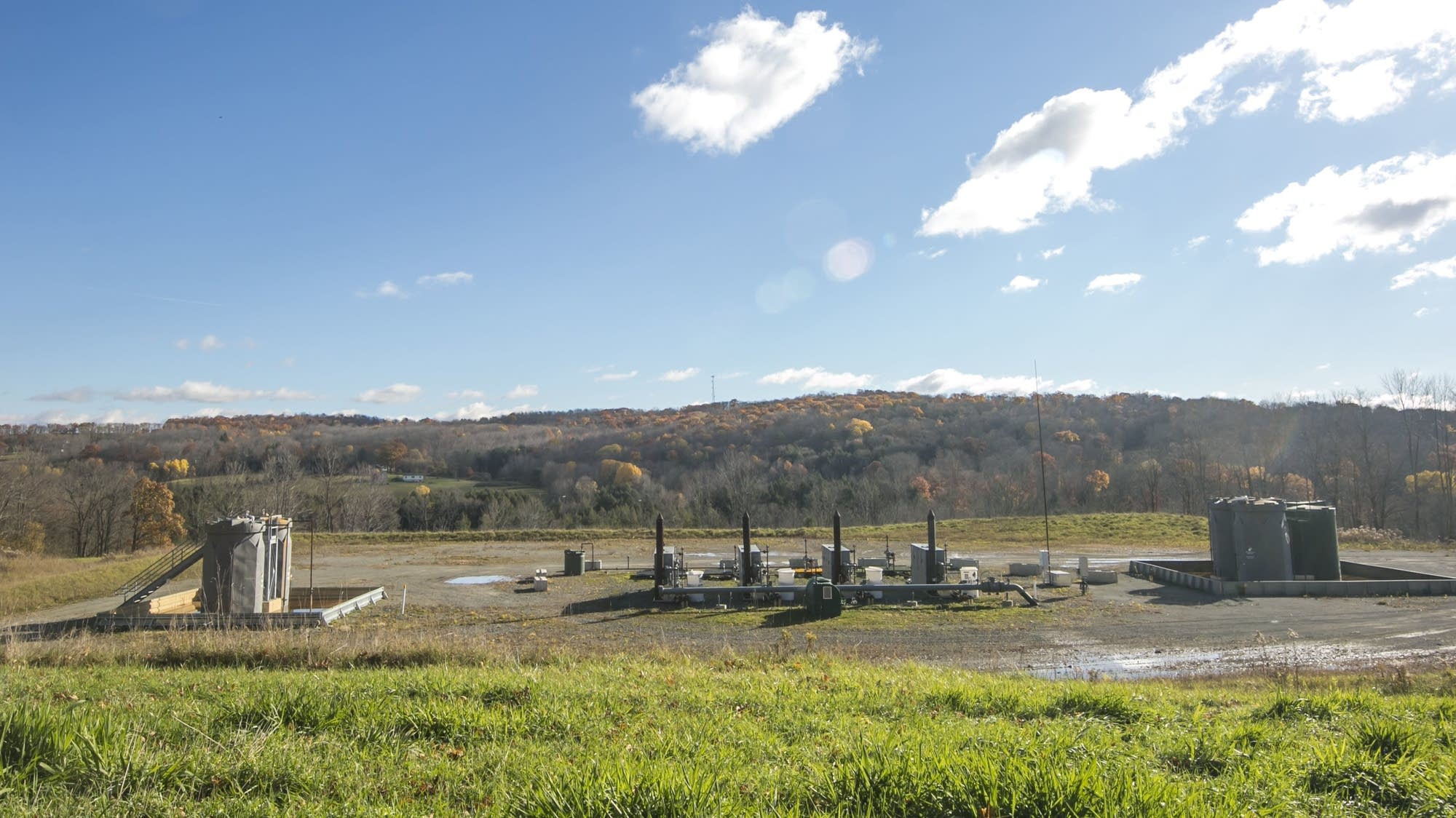 A natural gas well pad in Dimock, Pa.